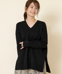 【可成套・防靜電產生】美麗諾羅紋V領針織罩衫#
