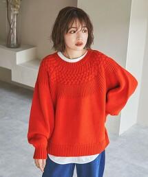 求心紋針織毛衣#