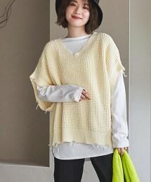 【2件式單品】仿復古針織&長袖T套裝