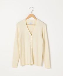 羅紋V領針織對襟外套