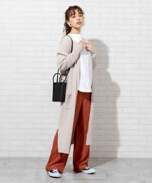 羅紋編織 長版對襟外套