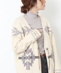 民族風緹花 對襟外套