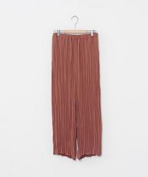 接觸涼感皺褶百褶寬褲※因吊牌產地表示有誤,此商品實際的產地為中國製造