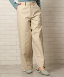 兩重織 微寬版 彈性長褲