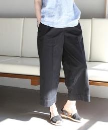 斜紋棉八分寬褲