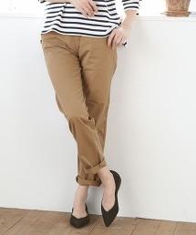 錐形斜紋布褲I
