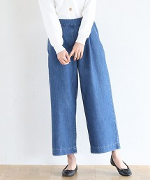 USA美國棉單寧寬褲