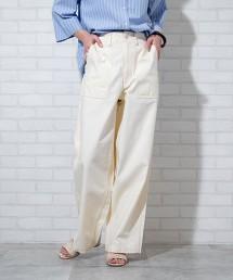 大口袋寬版軍褲