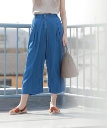 USA美國棉輕盈單寧中寬褲