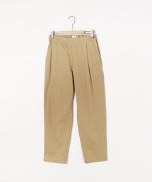 綿麻錐形8分褲