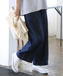 美國棉中寬版丹寧褲