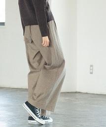 起毛棉質彈性 輕便 寬褲