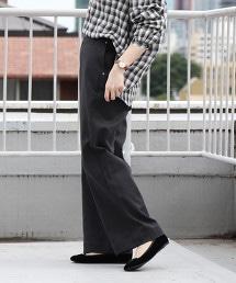 葛城厚斜紋布寬褲