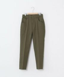 彈性錐形休閒長褲(中央燙線)
