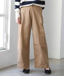 起毛斜紋布寬褲