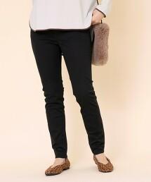 黑色窄管褲(彈性素材)