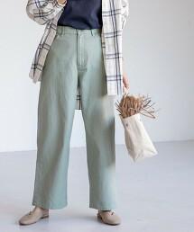 寬版色褲(煙燻色)#