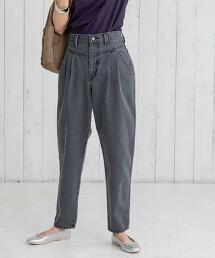 USA美國棉打摺錐形哈倫丹寧褲#
