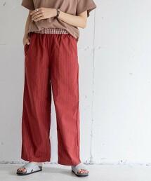 Market 雙層棉紗 長褲#