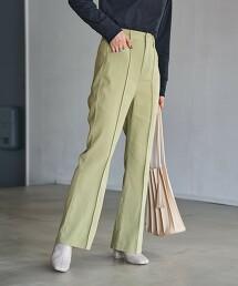 斜紋布 彩色喇叭褲#