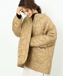绗縫寬版外套(大衣/中綿)