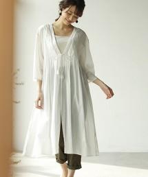【Market】巴里紗細褶長袍洋裝