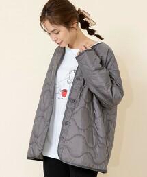 OUTLAST(R)鋪棉绗縫軍裝大衣#