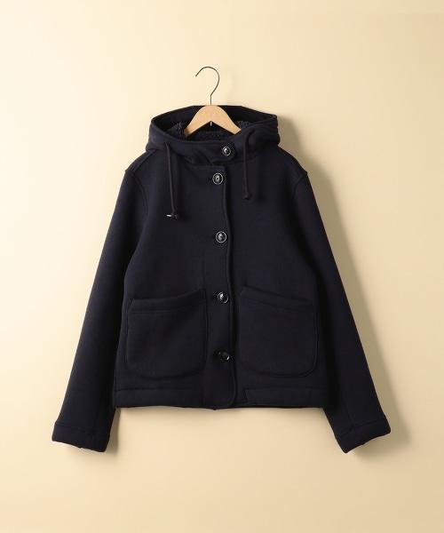 刷毛短版海軍單排釦大衣(Pea Coat)