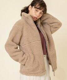 絨毛 立領 夾克