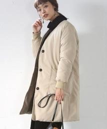 HOT FIBER鋪棉V領大衣