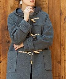 義大利環保羊毛牛角釦大衣(灰色)