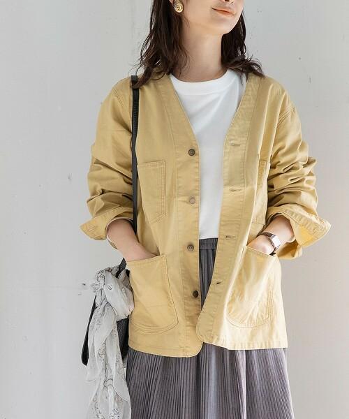無領 工裝夾克(休閒外套)