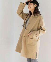 側開衩 巴爾瑪肯領大衣#(春季外套/春季大衣)