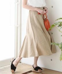 法國亞麻荷葉裙