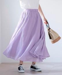 素色 中長裙#