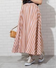 直條紋長裙