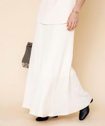 柔軟羅紋長裙