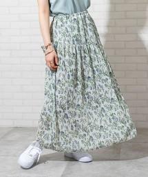 楊柳布花朵印花裙