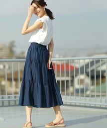【2WAY】印度棉雙面裙 ( 緹花A字裙 )