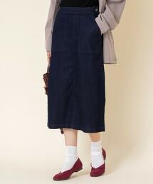 丹寧中長窄裙※因吊牌產地表示有誤,此商品實際的產地為越南製造