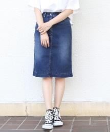 彈性單寧窄裙