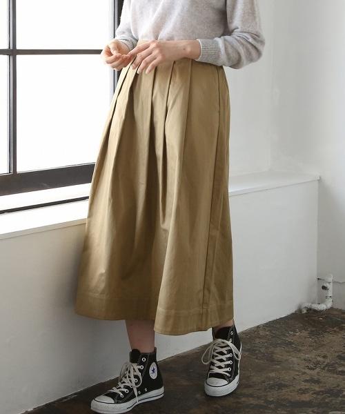 斜紋布長版荷葉裙
