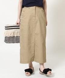 彈性長版窄裙