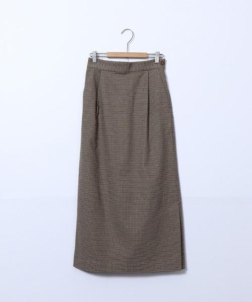起毛棉彈性長版窄裙