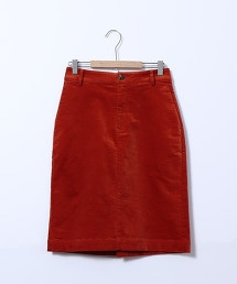 天鵝絨中長版窄裙 OUTLET商品