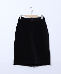 天鵝絨中長版窄裙