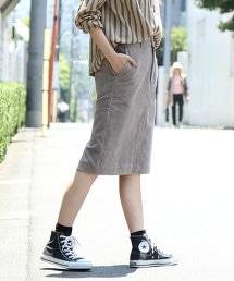 USA美國棉 燈心絨 中長窄裙