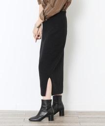 柔滑針織窄裙