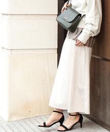 光澤緞面長裙