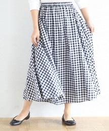 【19SS新商品・Market】格紋迷嬉長裙